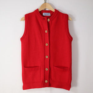 vtg guernsey woolens heavy lambswool sweater vest